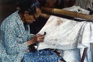 See Batik Being Made