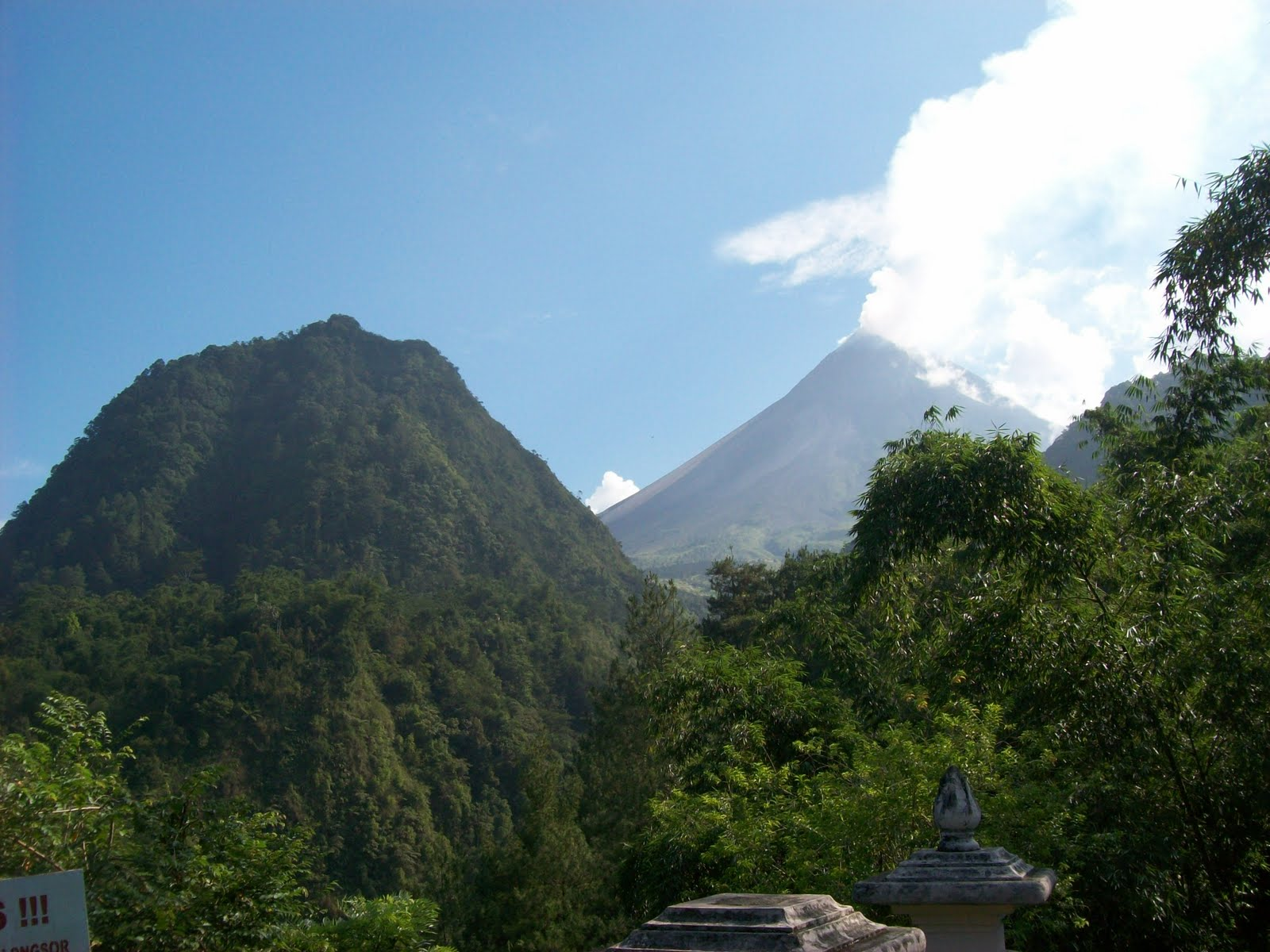 KALIURANG beautiful scenery close to Merapi