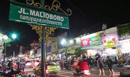 Malioboro street is a major shopping street in Yogyakarta